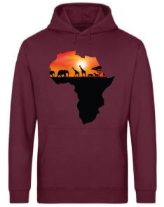 HOODIE MAPA ÁFRICA SUNSET