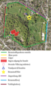 Kort over Berstorffsparken hundeskov