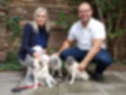 Janni Ree og Magnus Hinge Hellerup Dog Walk passe Janni Rees hunde Coco og Bugatti professionel hundelufter