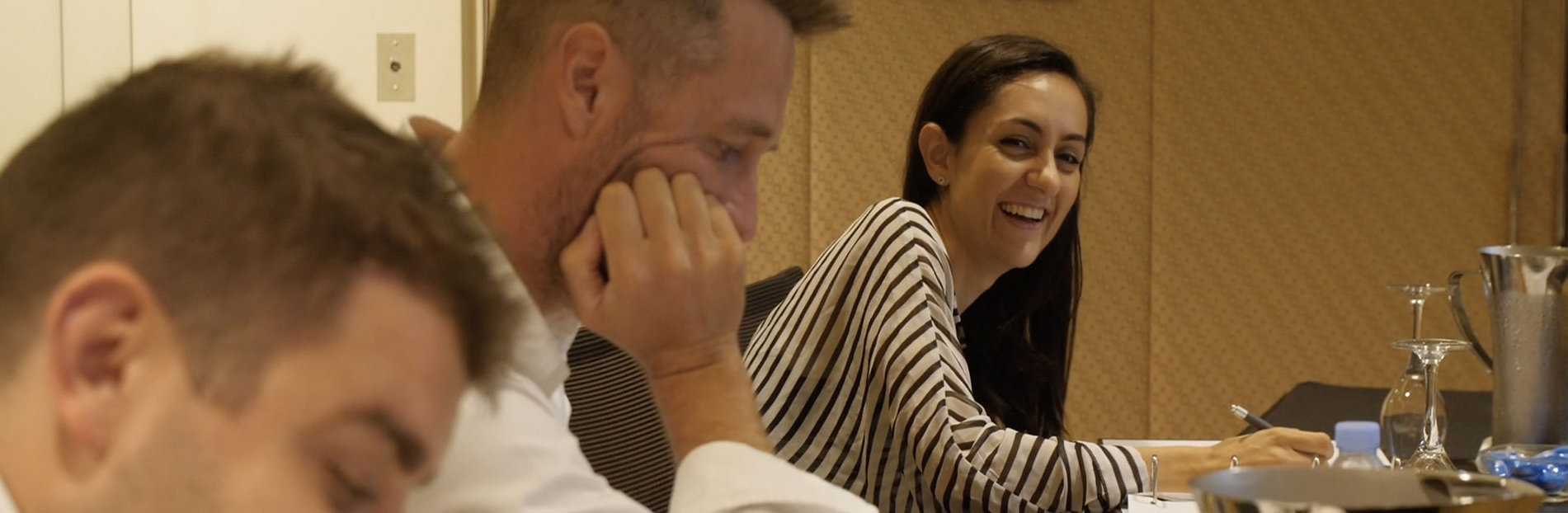 Photo of participants laughing during the Builders Accelerator Training Program
