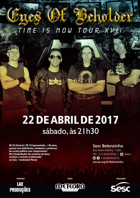 Eyes of Beholder: Ingressos para o show em São Paulo já tem data de venda on line e nas Unidades do
