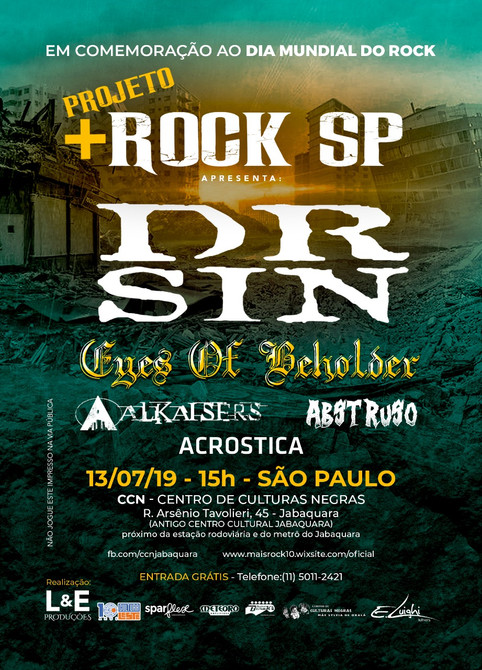 Dia Mundial do Rock - tem Eyes of Beholder