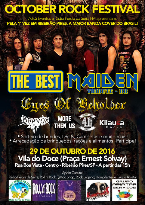 Eyes of Beholder live in October Rock Festival em Ribeirão Pires