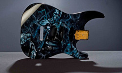 """""""The Terminator"""" guitar (front view)"""