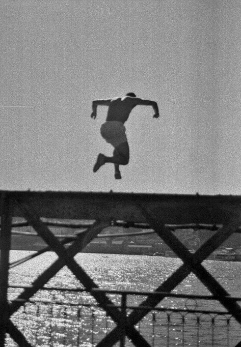 Jumping in Porto.