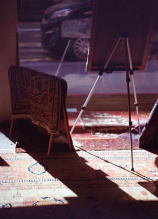 Armenian carpets of the ancestors - ordinary display.
