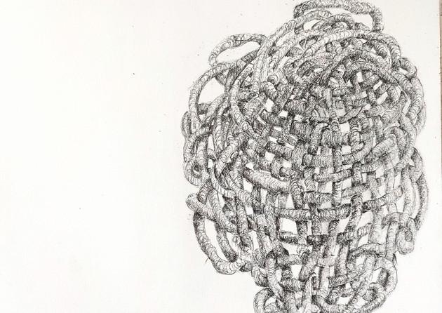 Jill Price, Embodied Entanglement _ Yoko, 2021, graphite on paper, 8 x 11.5.jpg