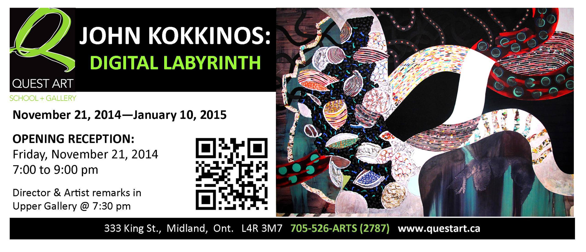 Digital Labrynth, John Kokkinos, Curated