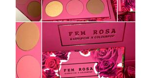 ColourPop X Karrueche Fem Rosa Collection Part 2- Pressed Powder 'Her' Face Palette Review + Swatche