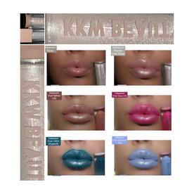 KKW Ultra Light Beam Powder in Iridescent Over Liquid Lipsticks