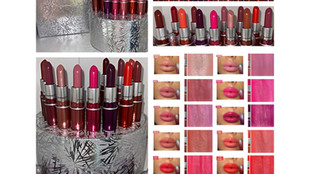 MAC Cosmetics Frosted Firework Collection- Surefire Hit Mini Lipstick Vault Review + Swatches