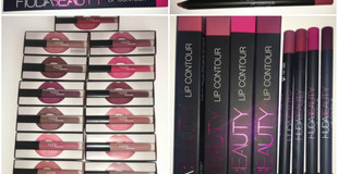 Huda Beauty Lip Contour Pencils Review + Swatch in Video Star, Icon, Famous & Trophy Wife