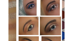 KKW X Mario Eyeshadow Palette Looks + Shades on Eyes
