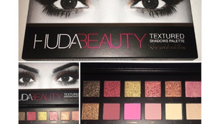 Huda Beauty Rose Gold Textured Eyeshadow Palette Review + Full Swatch