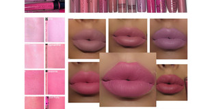 Best Baby Pink + Light Pink Liquid Lipsticks- x 12 shades