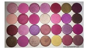 Coastal Scents Hot Pot Shadows Part 1- Swatches, Description + Review (28 shades)