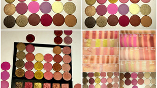 Huda Beauty Rose Gold Eyeshadow Palette Individual Eyeshadow Dupes + Swatches