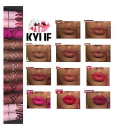 Kylie Cosmetics Velvet Liquid Lipstick Review + Swatches- x 11 Shades- Birthday Suit, Commando, Nake