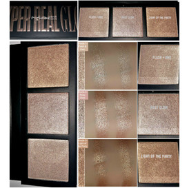 MAC Cosmetics Hyper Real Glow Highlighter Palette in Flash and Awe Review and Swatches