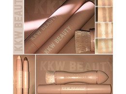 KKW Beauty Creme Contour and Highlighter Kit in Shade Light Review + Swatches