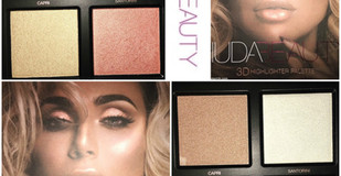 Huda Beauty 3D Highlighter Palette The Pink Sands Edition Review + Swatches