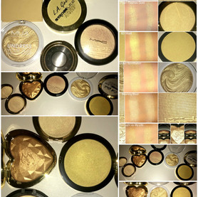 Kylie Cosmetics Banana Split Kylighter Dupes- MAC, LA Girl, Too Faced, Becca + MUA