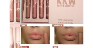 KKW X Kylie Cosmetics Creme Liquid Lipstick Colboration Review + Swatches