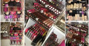 The Makeup Box Shop Flip Top Glamour Box Acrylic Cosmetic Cube Review, Description + Photos