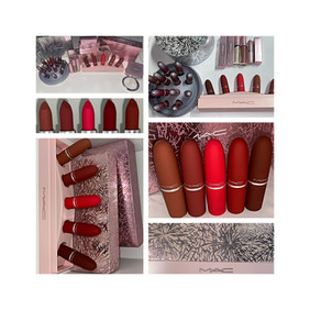 MAC Cosmetics Frosted Firework Collection Showstopper Powder Kiss Lipstick Set Review + Swatches