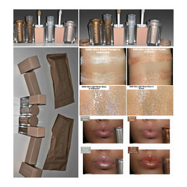 KKW Ultra Light Beams & Gloss First Impression, Description + Swatches in Iridescent and Bronze