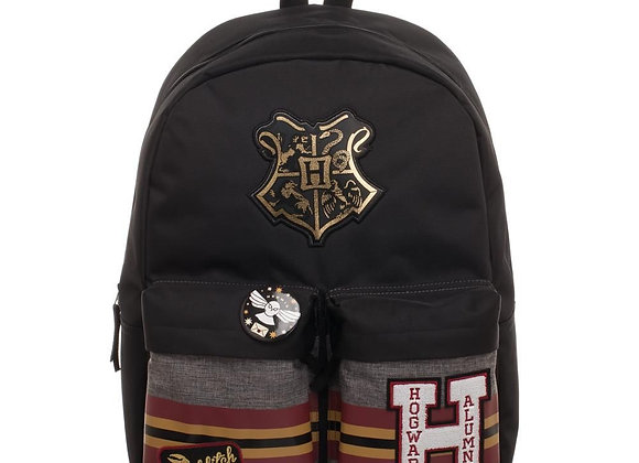Harry Potter Patches Backpack with Pin Badge