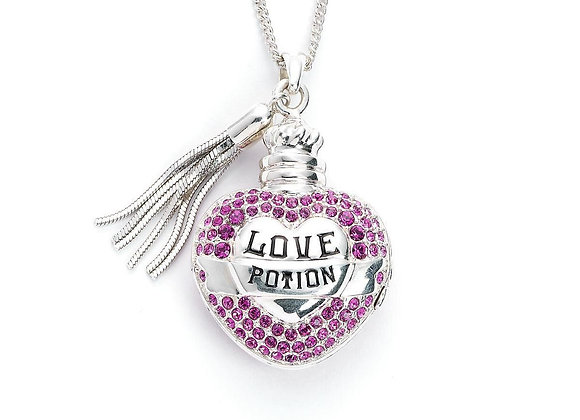 Harry Potter Sterling Silver Love Potion Necklace Embellished with Swarovski® Cr