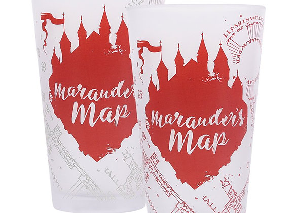 Glass Cold Change Boxed (450ml) - Harry Potter (Marauders Map)