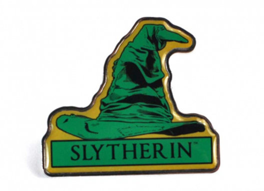 Harry Potter Pin Badge - Slytherin Sorting Hat
