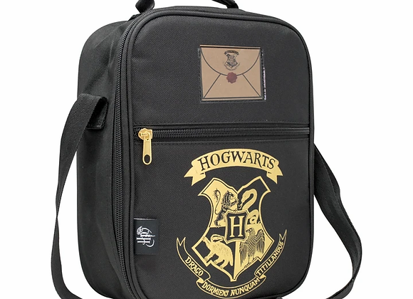 HARRY POTTER 2 POCKET LUNCH BAG BLACK