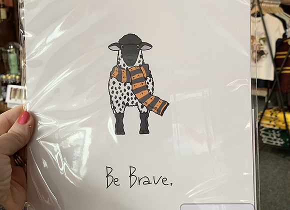 Welsh Sheep Storybook Studios Prints - Brave, Loyal, Bold or Courage