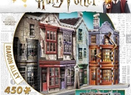 Harry Potter Wrebbit 3D Puzzle, Diagon Alley, 450 pcs