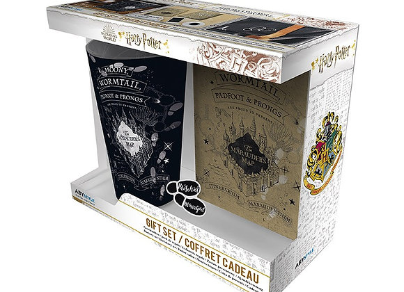 Harry Potter Glass, Pin Badge & Notebook Gift Set
