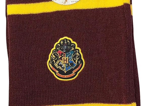 Gryffindor Colours Scarf with Hogwarts Crest