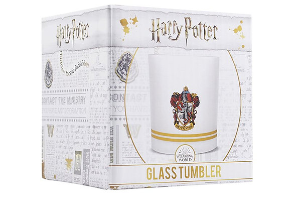 Glass Tumbler Boxed (325ml) - Harry Potter (Gryffindor)
