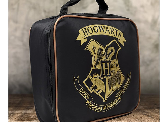 HARRY POTTER BLACK HOGWARTS LUNCH BAG