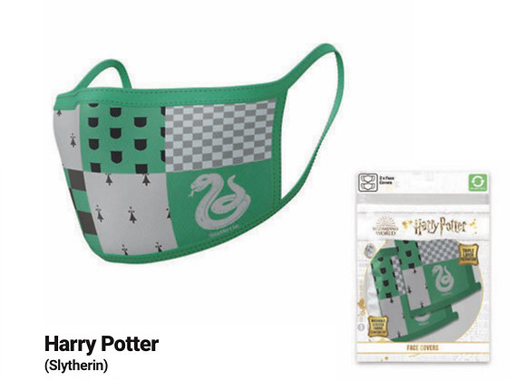 Harry Potter Slytherin Face Coverings 2 Pack