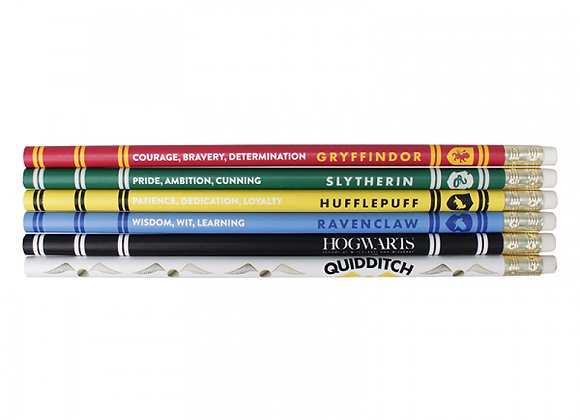 Harry Potter Pencils (Set of 6) - House Pride