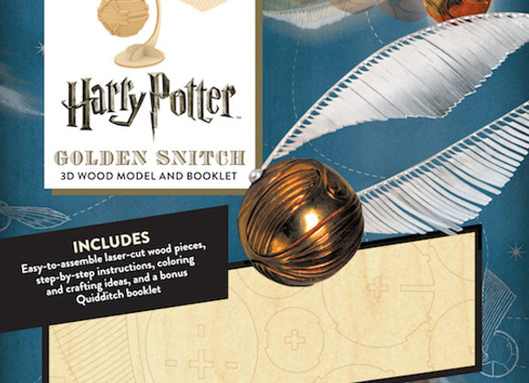 IncrediBuilds: Harry Potter: Golden Snitch 3D Wood Model