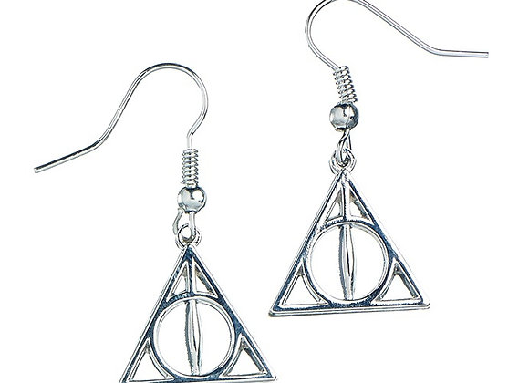 Sterling Silver Harry Potter Deathly Hallows Earrings