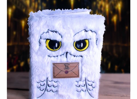 HARRY POTTER A5 PLUSH NOTEBOOK - HEDWIG