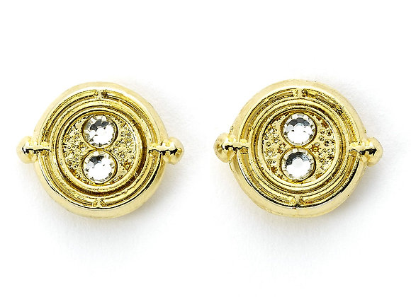Harry Potter Time Turner Gold Plated Stud Earrings