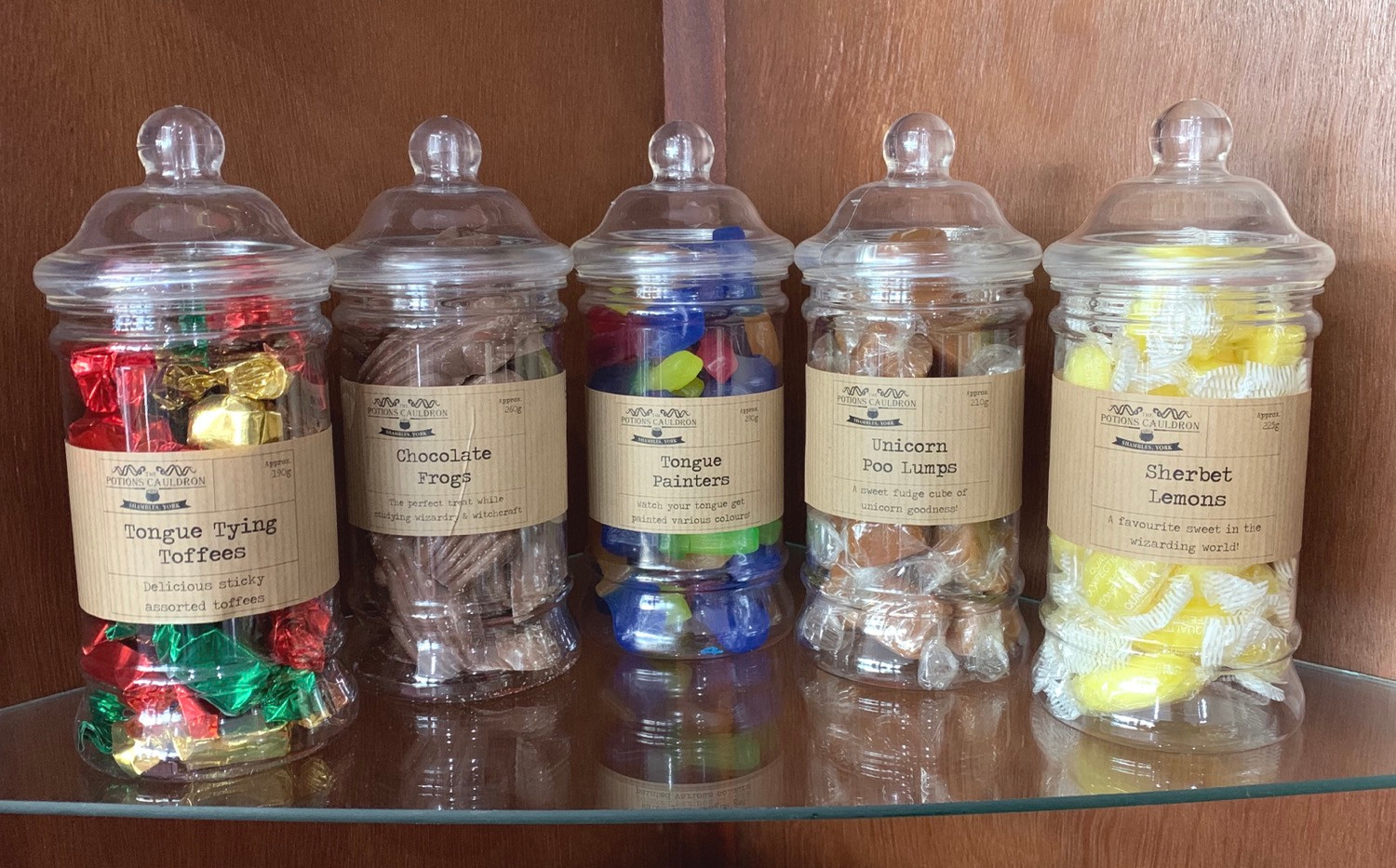 Wizards favourite sweet jars