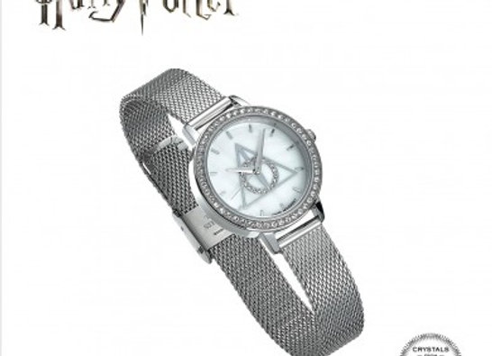 Harry Potter Deathly Hallows Silver Watch Embellished with Swarovski Crystals
