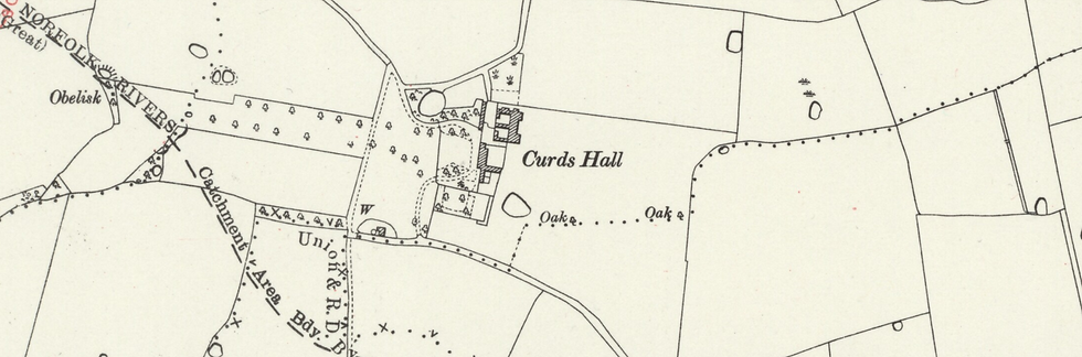 Curds Hall Barn 1938 Map.PNG